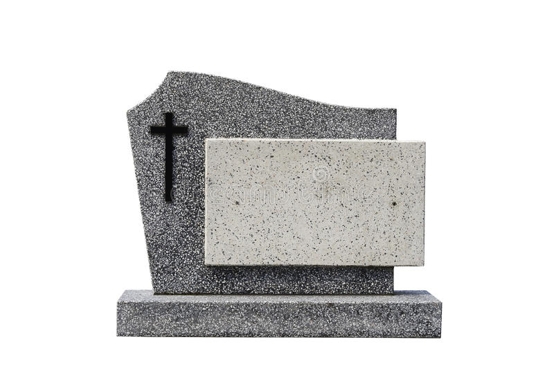 Single grave stone cut out stock photos
