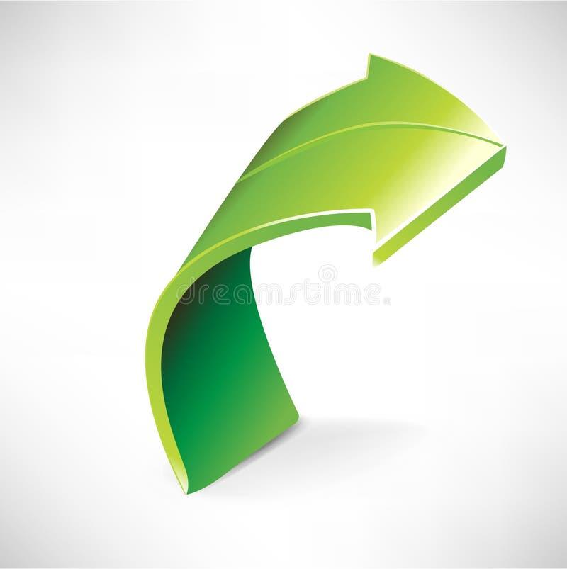 Single green arrow vector illustration