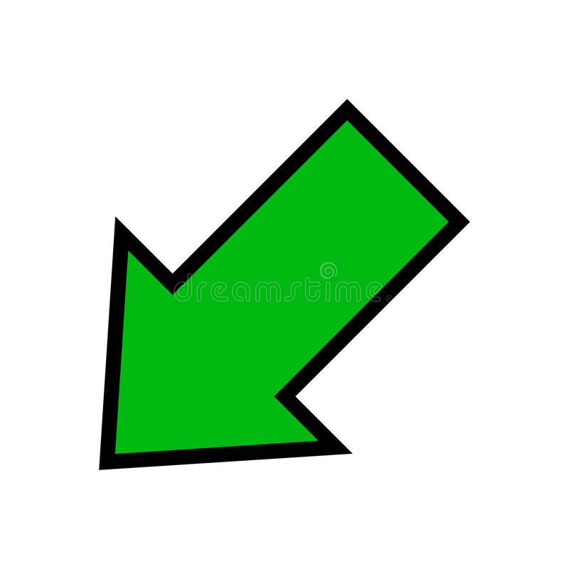 Single Green Arrow, Diagonal Arrow Sign Left Up Isolated On White, Arrow  Sign For Direction Stock Vector - Illustration of infographic, icon:  199191788