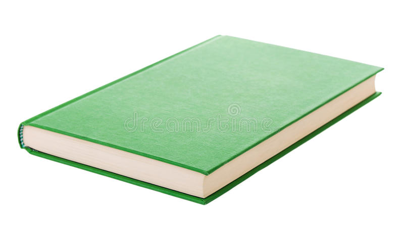 Single green book stock photography