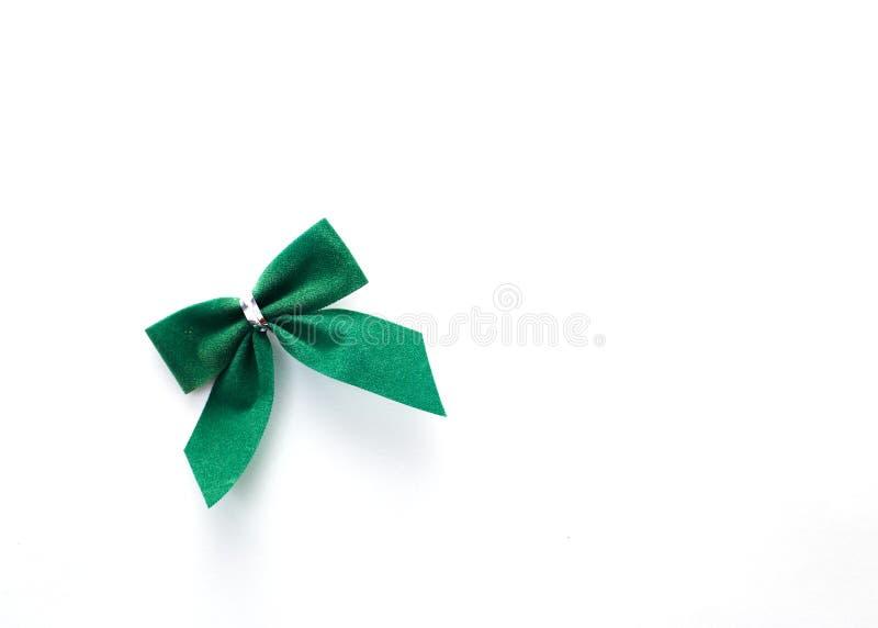 single green velvet bow stock photo