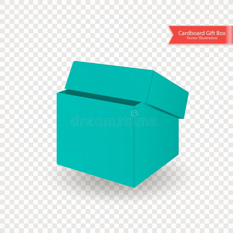White Cube Gift Box Front View Stock Illustrations – 138