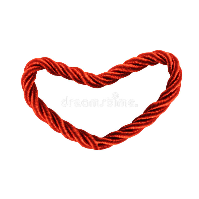 Download Single Heart Rope stock photo. Image of ornament, design - 17718964