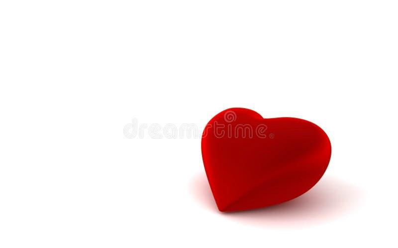 Single heart shape on white background