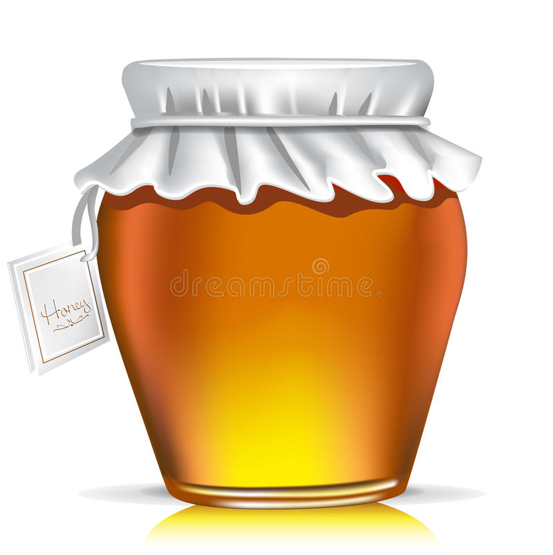 Download Single honey jar with tag stock vector. Illustration of background - 22505289