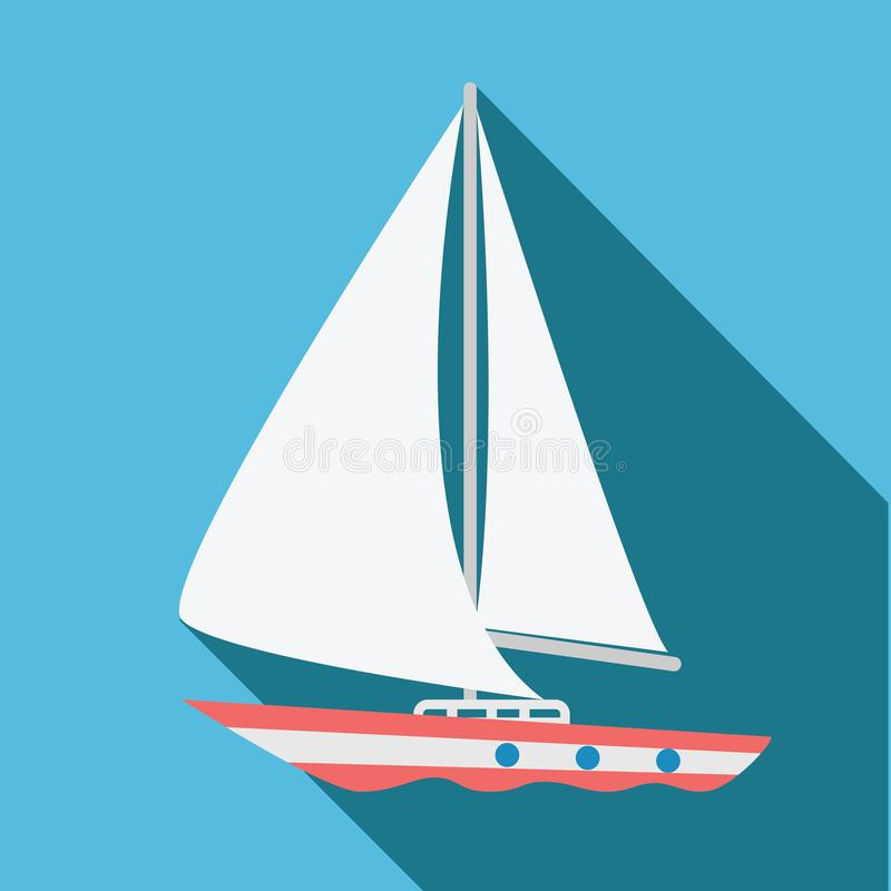 Boat icon. Flat design. Vector illustration. royalty free stock photography
