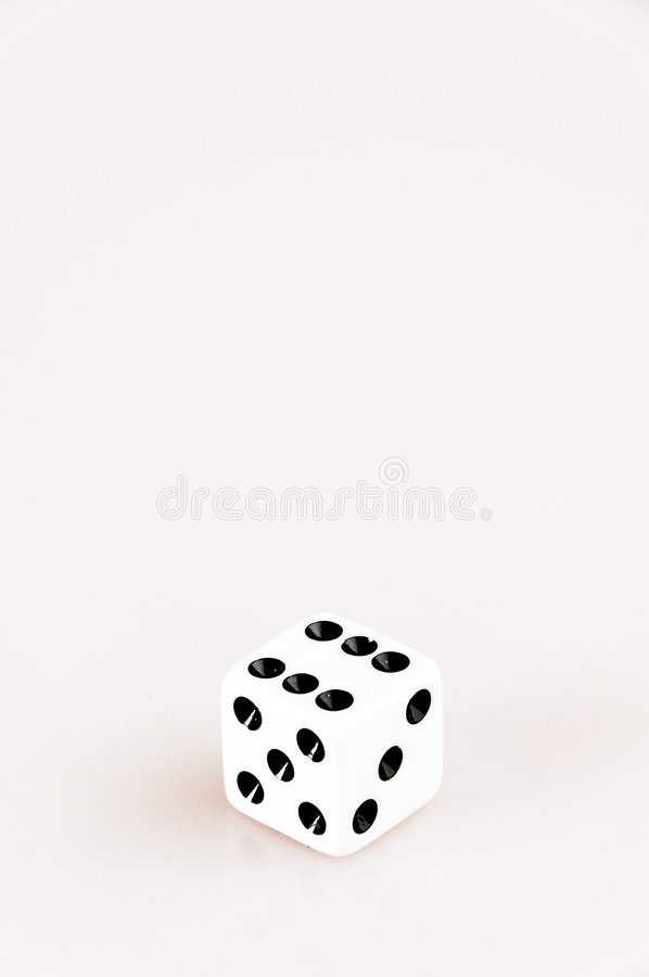 Free Single Isolated Die Showing Six Stock Images - 4007534
