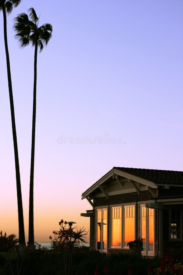 Single isolated luxury coastal apartment royalty free stock photo