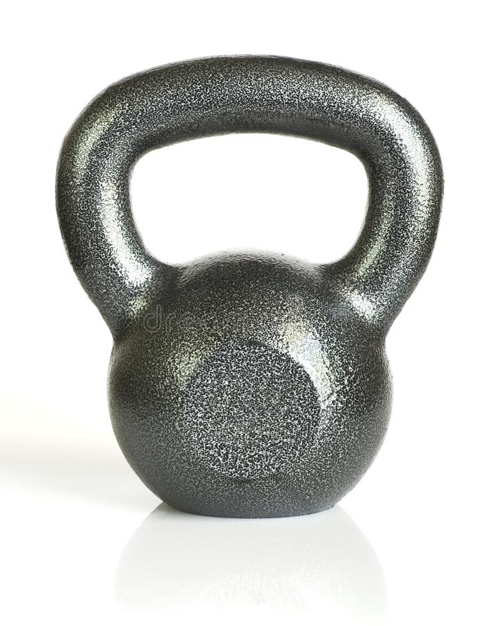 Single kettle bell. On white background. No weight shown on front royalty free stock images