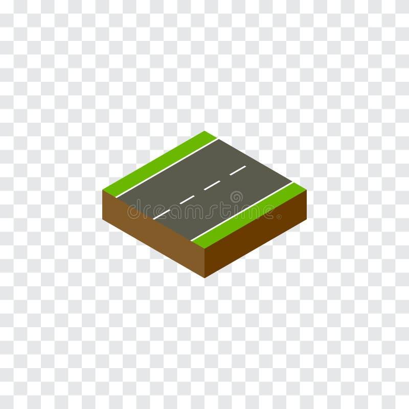 Single-Lane Isometric Driveway το διανυσματικό στοιχείο μπορεί να χρησιμοποιηθεί για Driveway, ενιαίος, έννοια σχεδίου παρόδων απεικόνιση αποθεμάτων