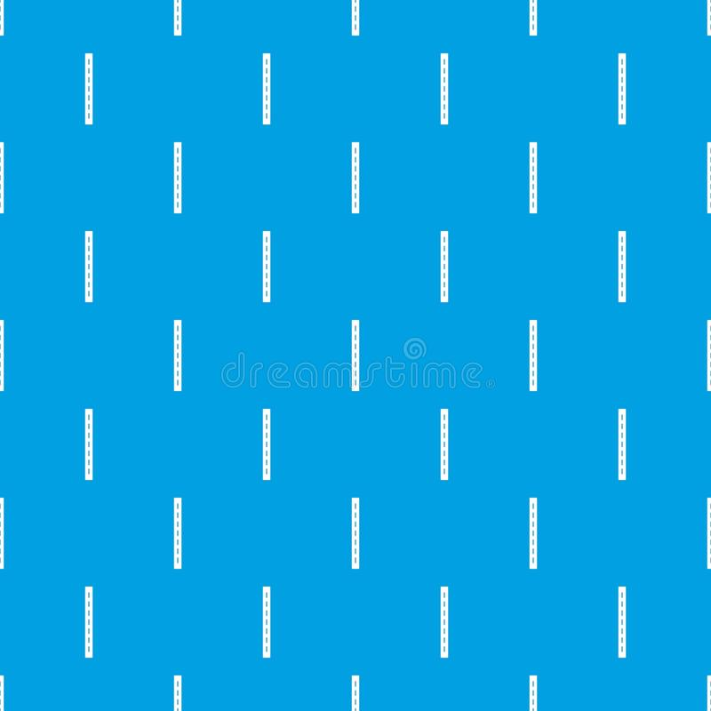 Single-lane vector naadloze blauw van het wegpatroon stock illustratie