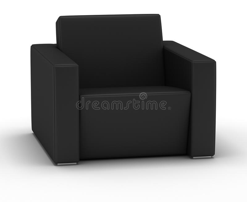 Single Leather Armchair royalty free stock photo