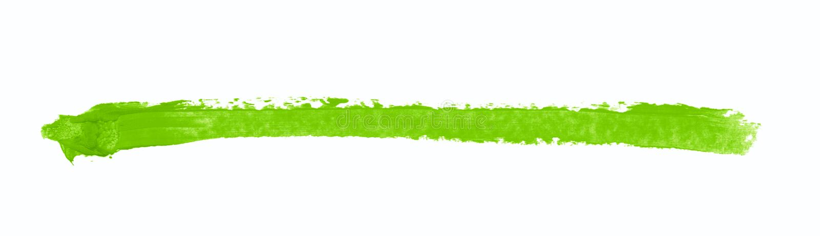 Single line marker stroke isolated. Single line marker stroke of a wax crayon as a design underline element, isolated over the white background royalty free stock photo