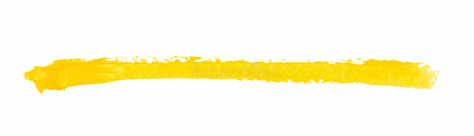 Single line marker stroke isolated. Single line marker stroke of a wax crayon as a design underline element, isolated over the white background royalty free stock photos