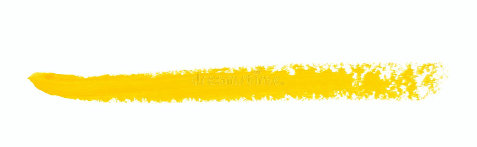 Single line marker stroke isolated. Single line marker stroke of a wax crayon as a design underline element, isolated over the white background stock photos