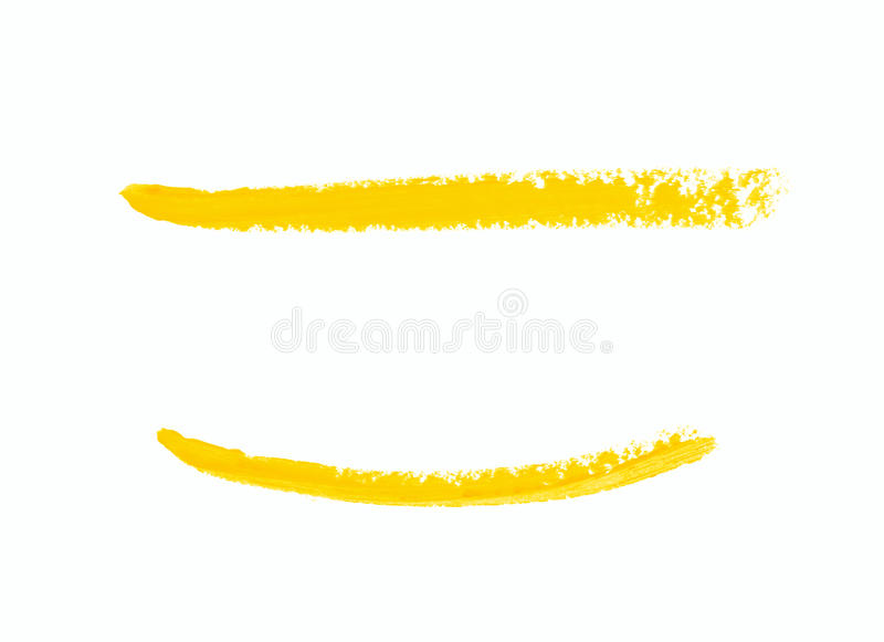 Single line marker stroke isolated. Single line marker stroke of a wax crayon as a design underline element, isolated over the white background, set of two stock image