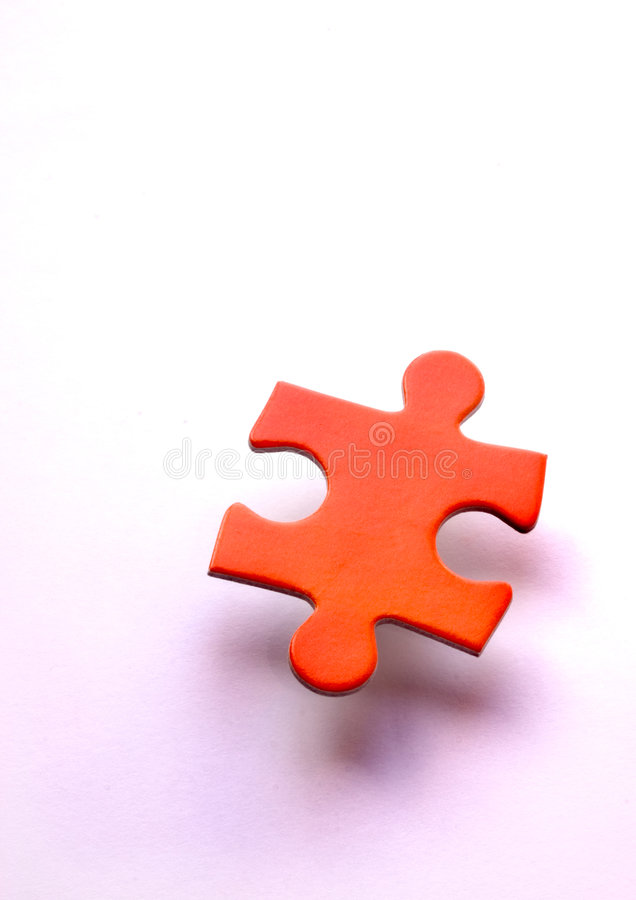 Single and lonely puzzle royalty free stock image