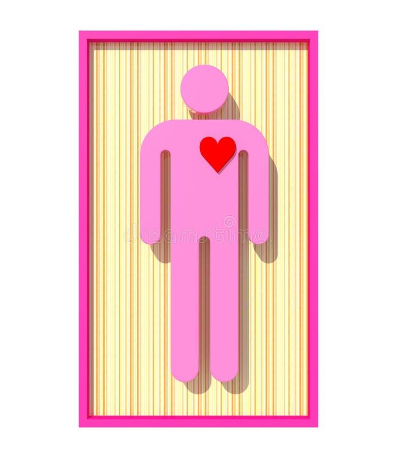 Download Single man in love stock illustration. Image of valentine - 22788297