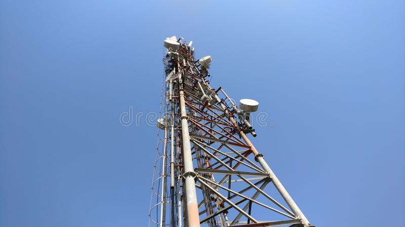Mobile network tower royalty free stock photo