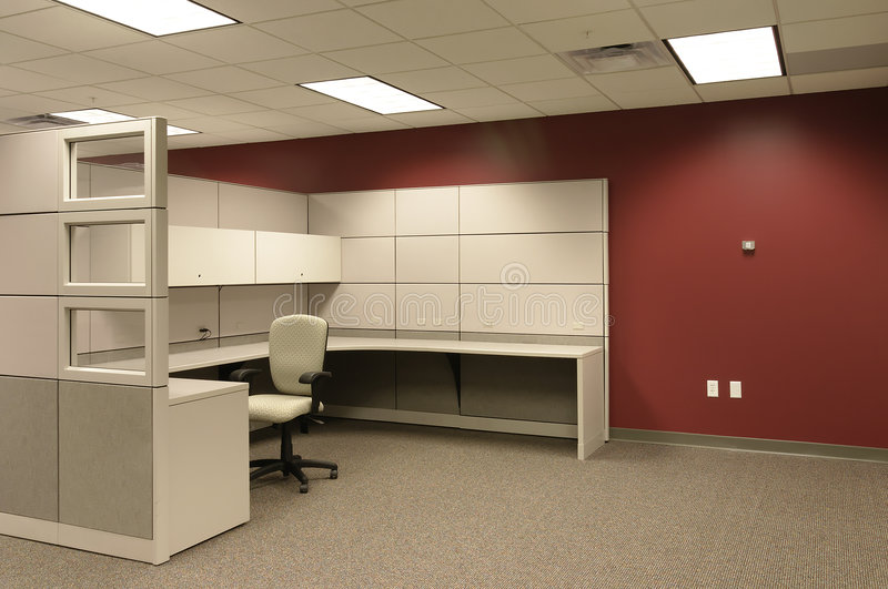 Download Single Office Cubical Workspace Stock Photo - Image: 1708548