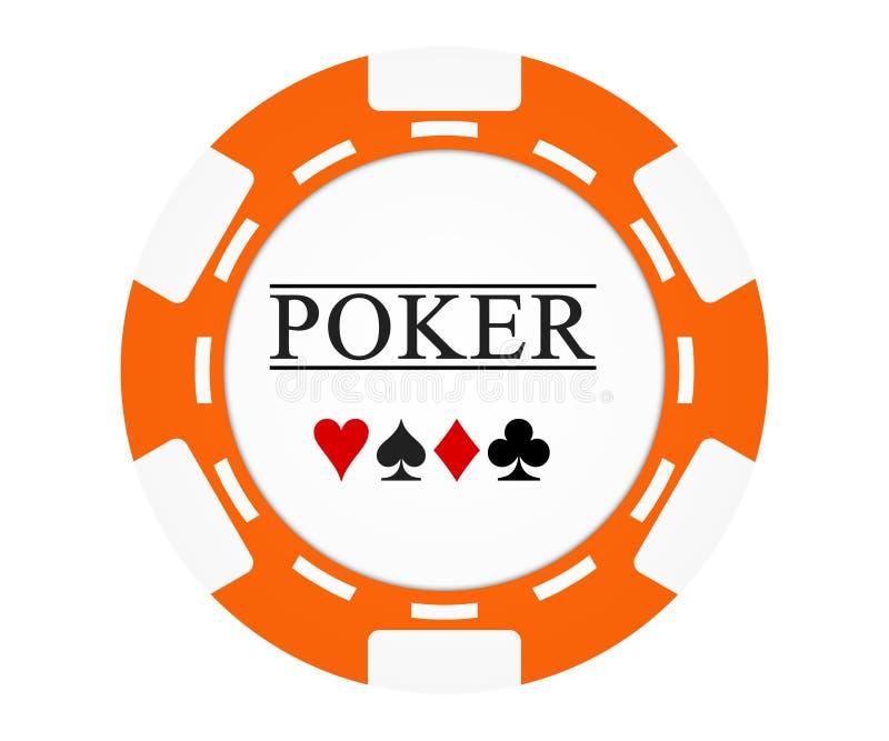 Download Single Orange Casino Chip Isolated On White Stock Illustration - Image: 25700329