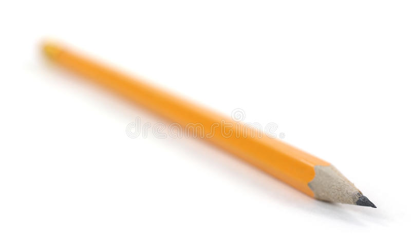 Download Single Pencil With Sharp Tip Stock Image - Image: 18639765