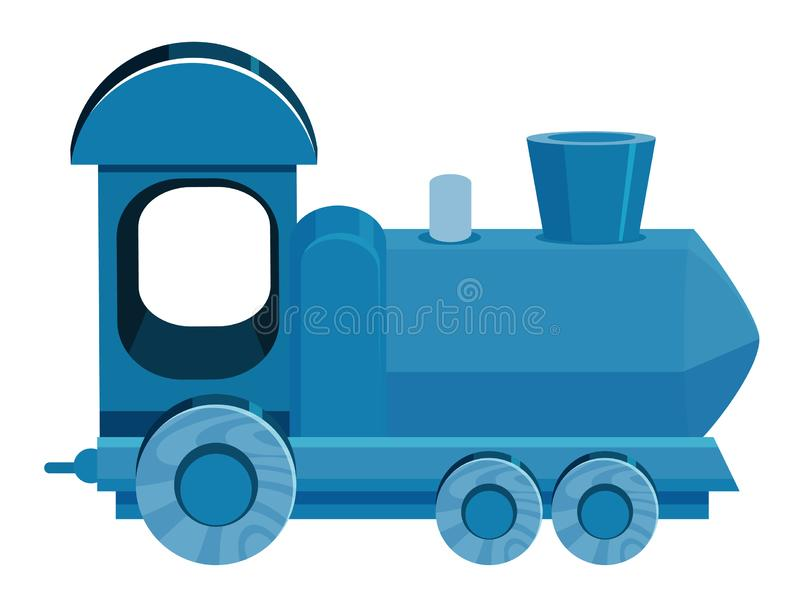 Single picture of train in blue color royalty free illustration