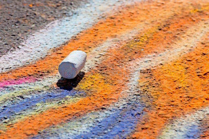 Download Single Piece Of Chalk On Sidewalk Art Stock Image - Image: 24469327
