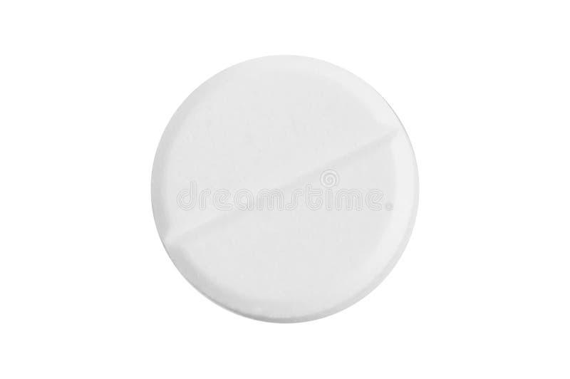 Single pill. On white background stock image