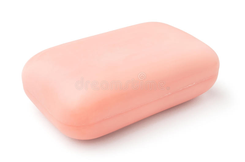 Single pink soap stock images