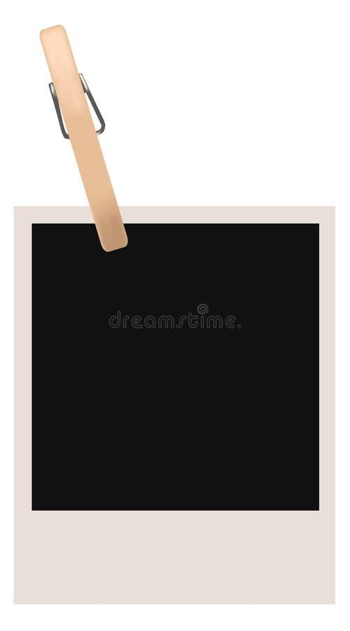 Download Single Polaroid Blank stock vector. Illustration of image - 6137443