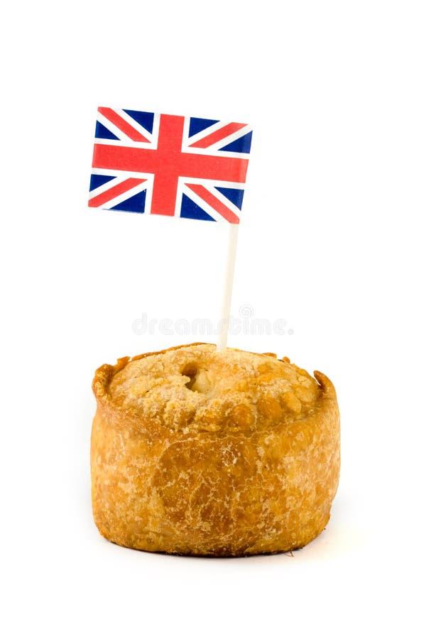 Single Pork Pie With Union Jack Royalty Free Stock Photos