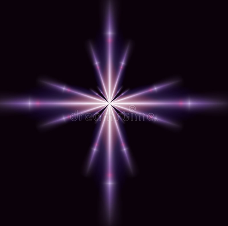 Single Purple Star royalty free stock photo