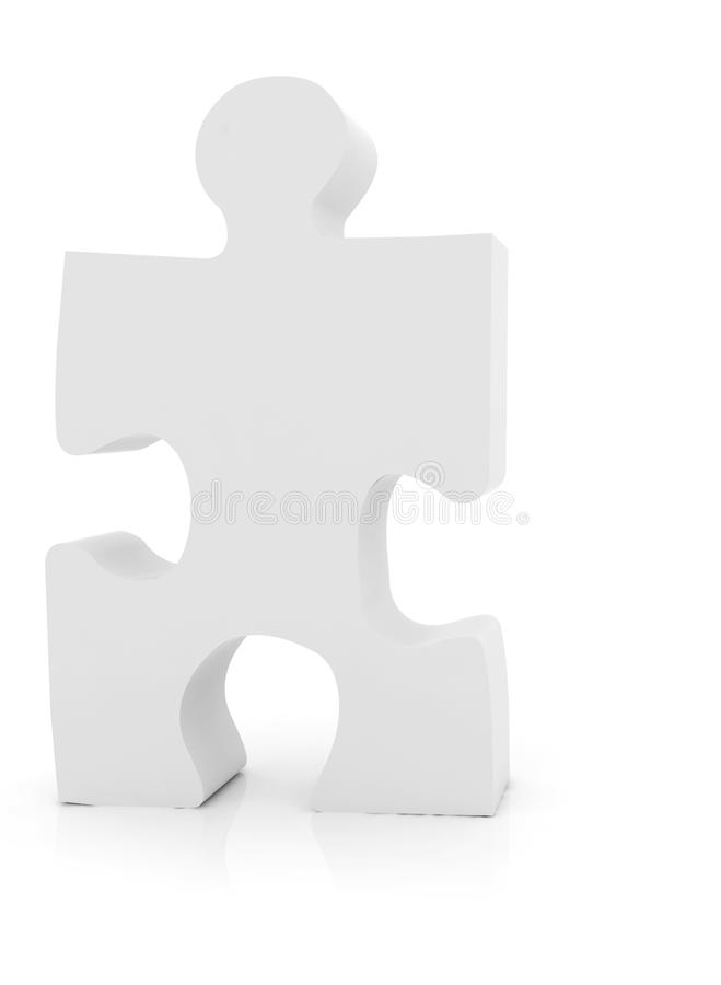 Download Single puzzle piece stock illustration. Illustration of solving - 12191583