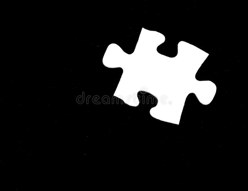Single puzzle piece royalty free stock image