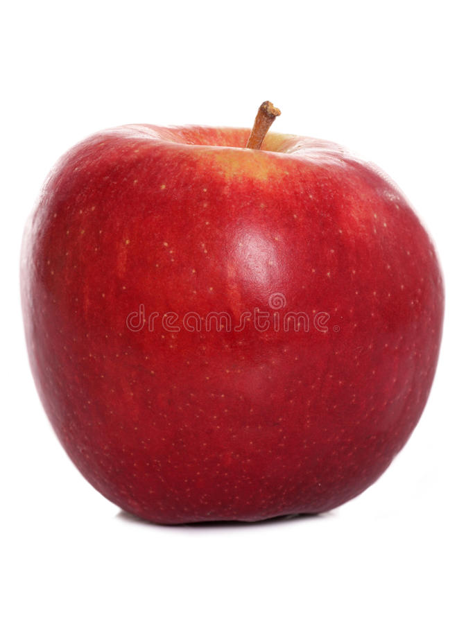 Free Single Red Apple Stock Image - 22253441