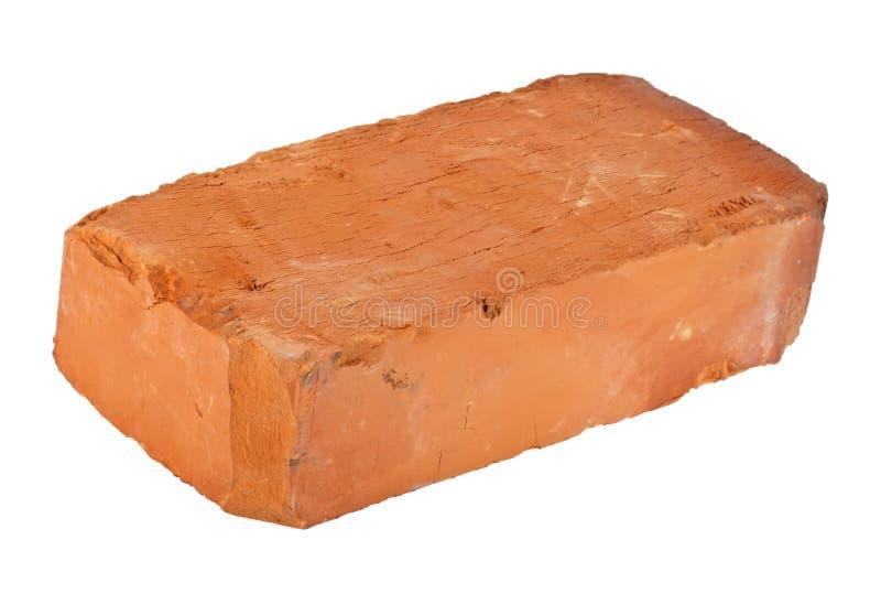 single-red-brick-isolated-white-backgrou