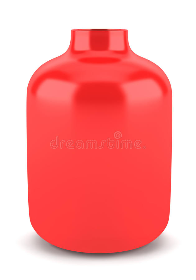 Single Red Ceramic Vase Isolated On White Royalty Free Stock Images