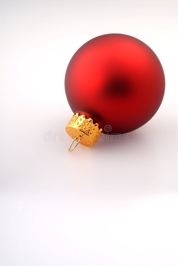 Download Single Red Christmas Ornament Stock Photography - Image: 3699402