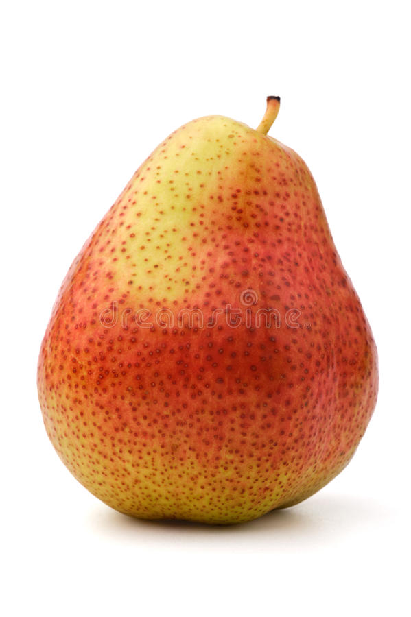 Free Single Red-green Pear, White Background Stock Images - 19693874