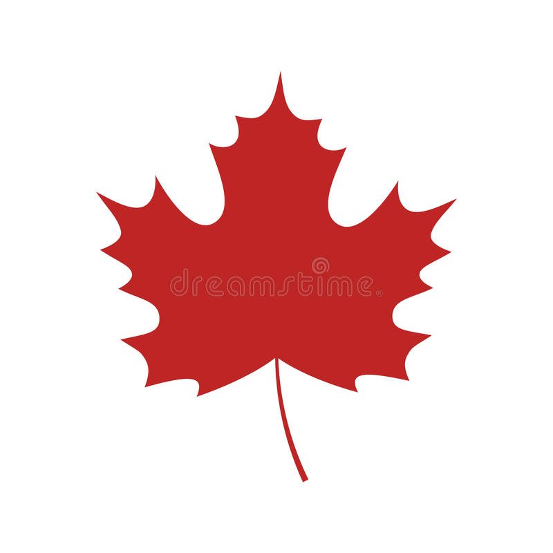 Single red maple leaf royalty free illustration