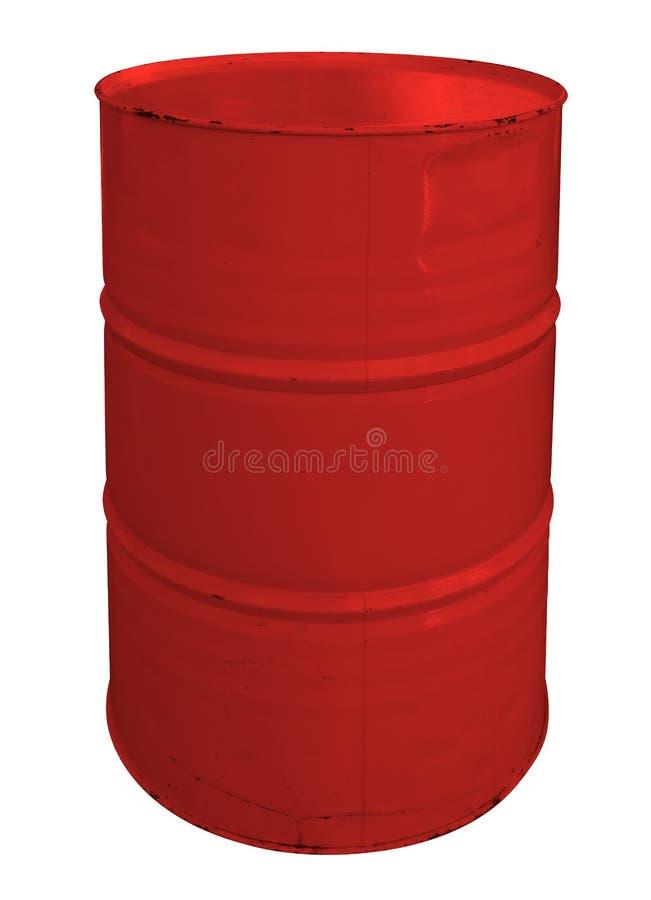 Single red metallic barrel royalty free stock images
