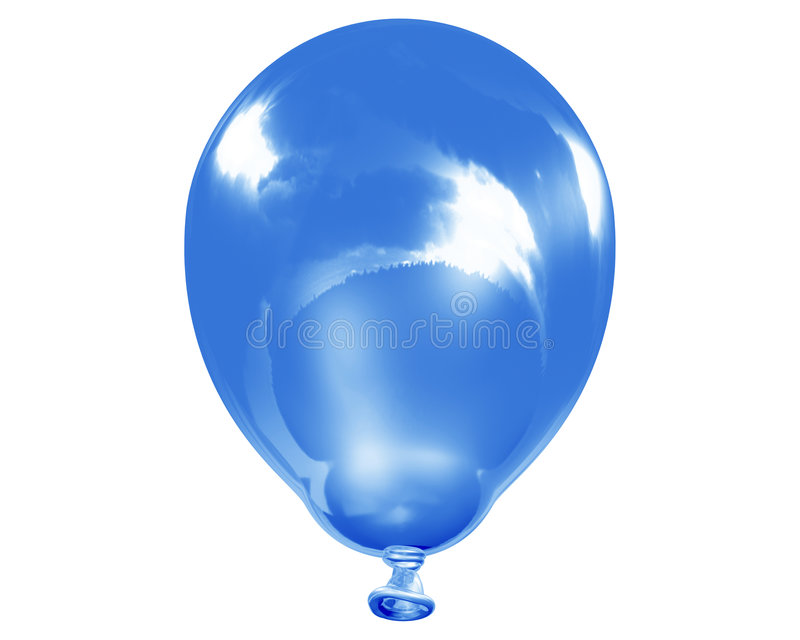 Single Reflective Blue Balloon Royalty Free Stock Images