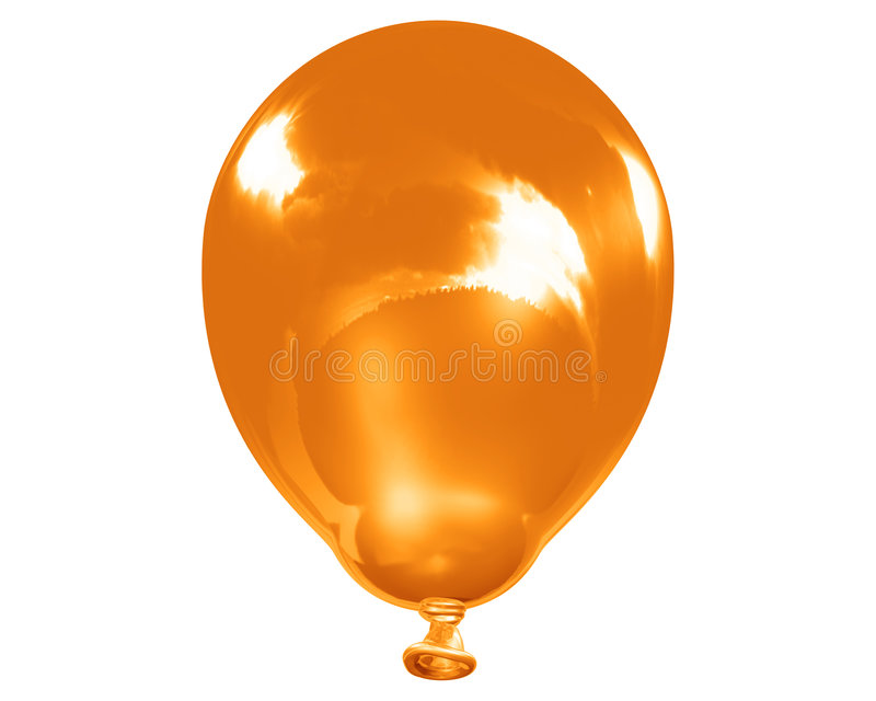 Download Single Reflective Orange Balloon Stock Illustration - Image: 5467197