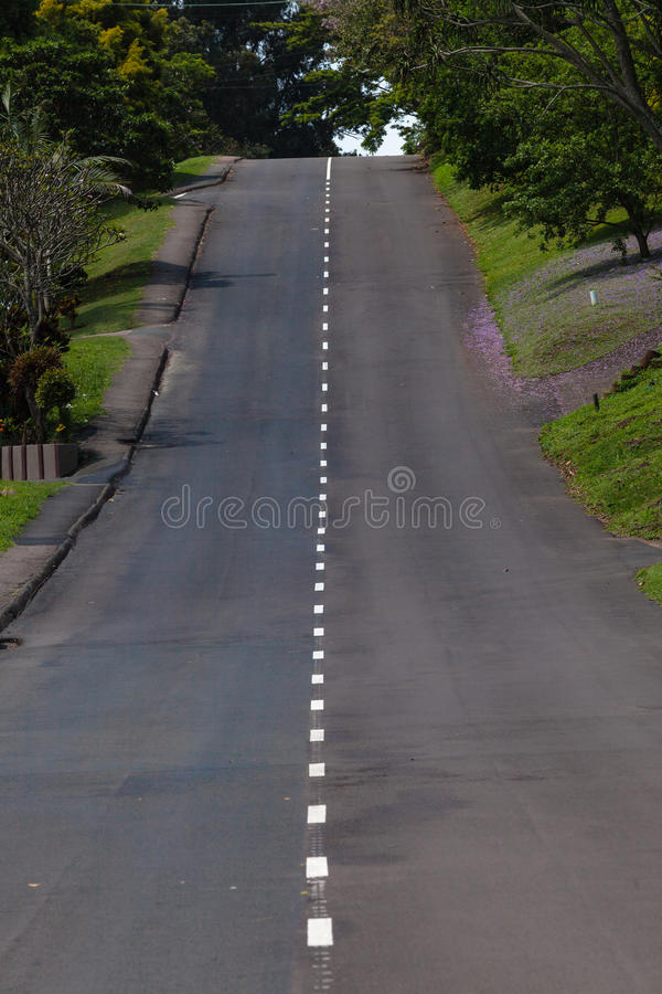 Download Single Road Hill Green Stock Photo - Image: 27050180