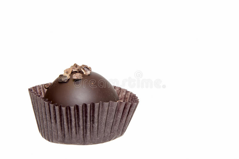 Download Single Round Dark Chocolate Isolated Stock Image - Image: 28472971