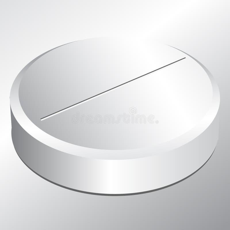 Single round pill royalty free illustration