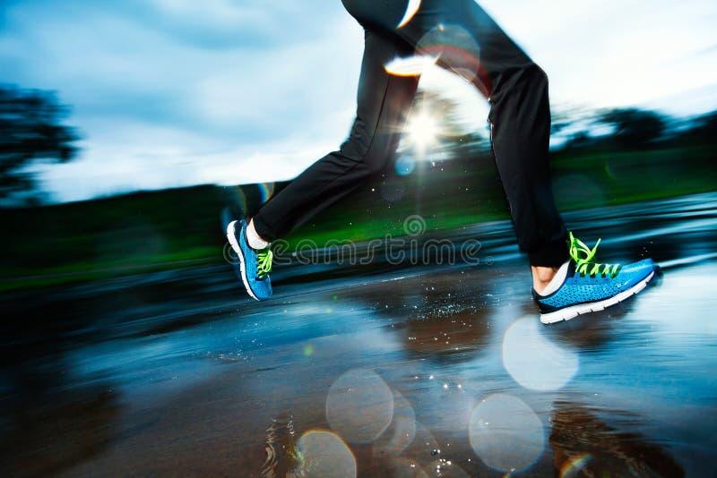 Download Single Runner Running In Rain Stock Image - Image: 34852433