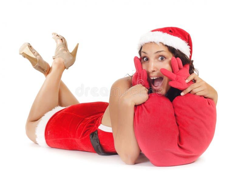 Download Single santa woman heart stock photo. Image of christmas - 20109544
