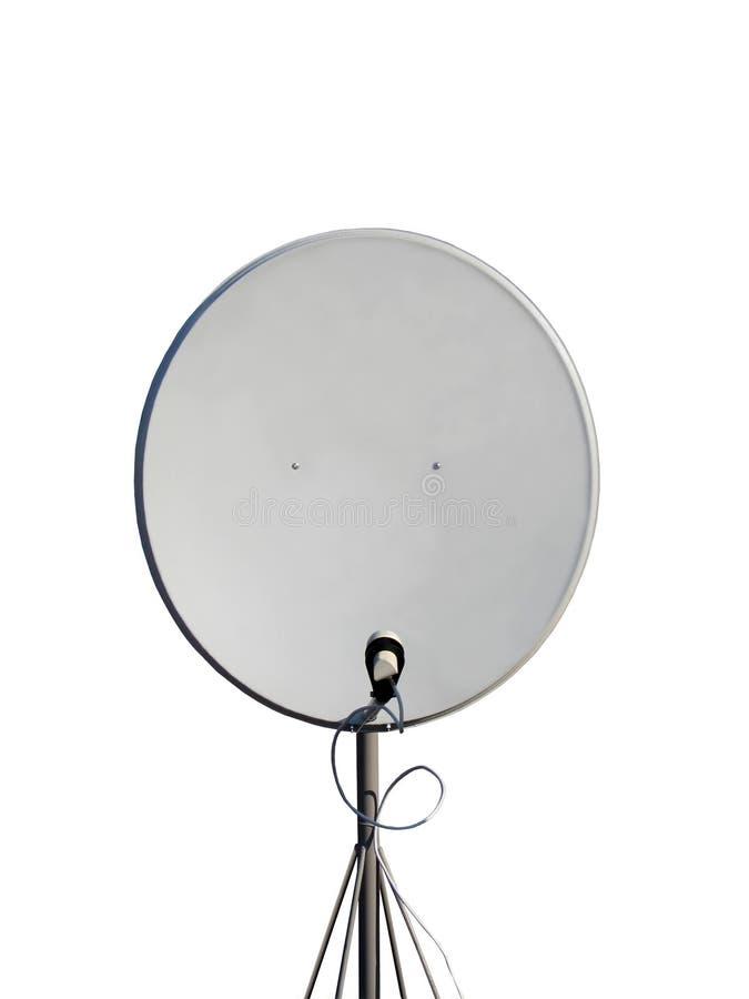 Free Single Satellite Pylon, Parabolic Antenna Isolated Royalty Free Stock Image - 11919716